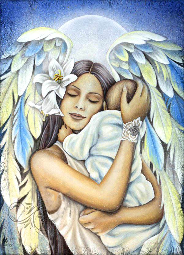 знак картинки мама ангел с детьми том, чтобы