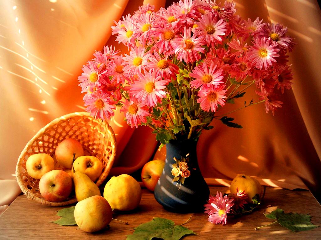 Красивые открытки с осенними цветами и пейзажами, елизаветы