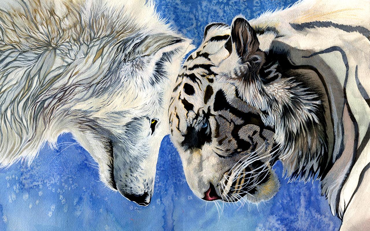 сама картинки на рабочий стол тигры волки может стесняться