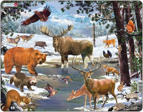 Пазл Животные Северной Европы, 54 детали