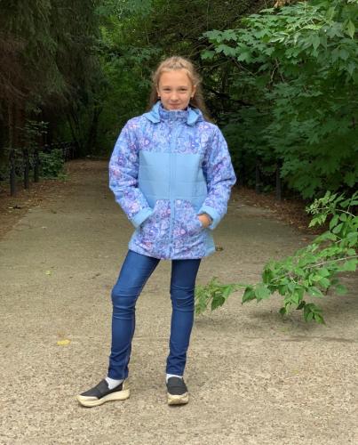Куртка демисезонная для девочки арт. 1057 (110-128)