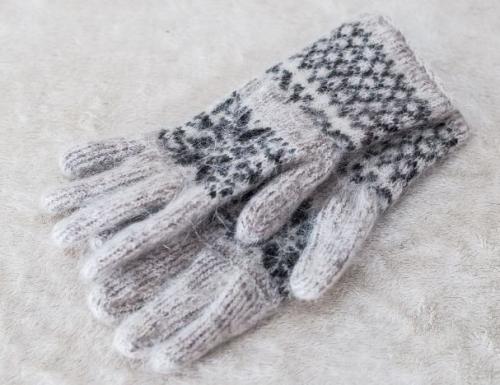 Арт 170 - Перчатки из шерсти женские Серые