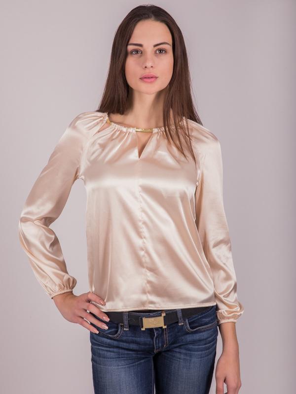 ехали учёбу блуза из шелка под джинсы фото собственным