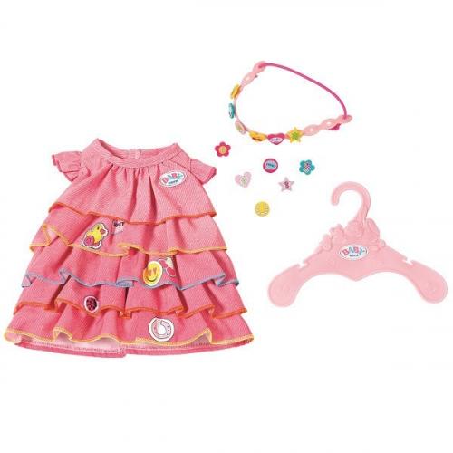 Игрушка BABY born Платье и ободок-украшение, веш.