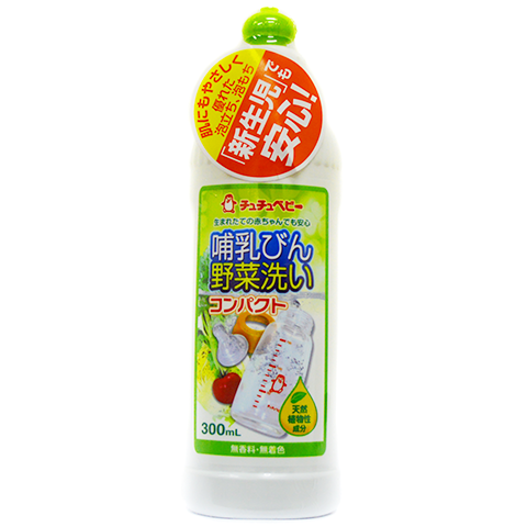 993386 CHUCHUBABY Жидкое средство для мытья детских бутылок, овощей и фруктов, 300 мл