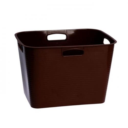 Корзина для белья, мягкая 45 л, цвет шоколадный