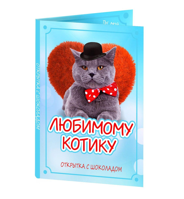 открытка любимому с котами