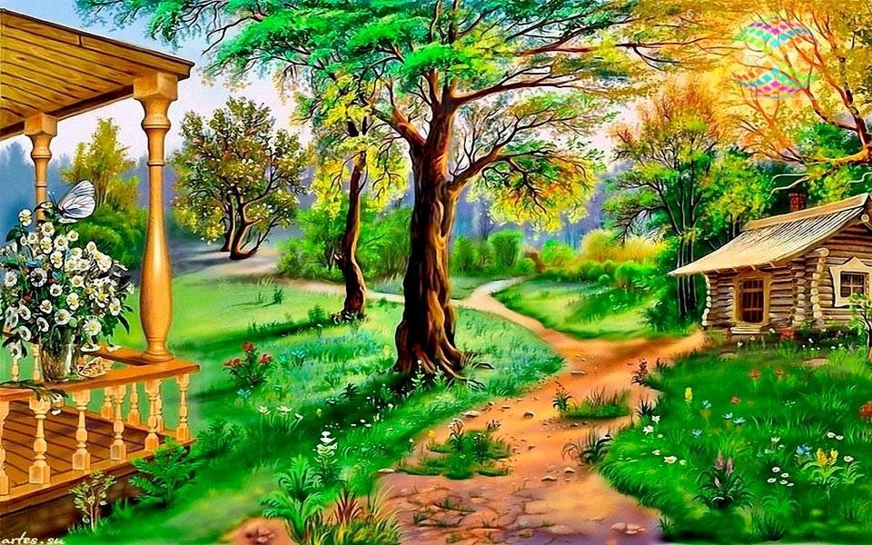 Картинки сказочного летнего леса