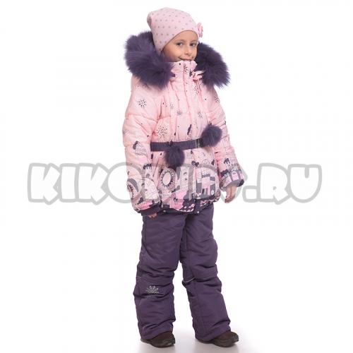 4565Б Костюм для девочки зимний (молочный/фиолетовый)