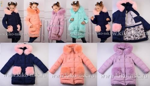 (122) 4560 Пальто для девочки зимнее