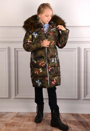 4928 Пальто зимнее для девочки