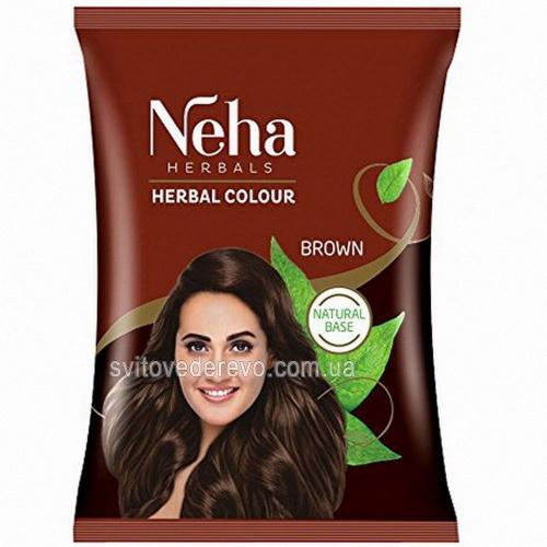 Хна для волос Neha коричневая, 20 г