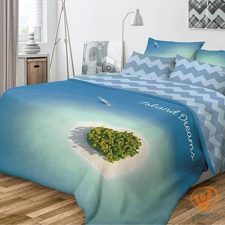 Комплект постельного белья Волшебная ночь Island Dreams полутораспальный, ранфорс 701989