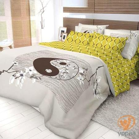Комплект постельного белья Волшебная ночь Yin Yang полутораспальный, ранфорс 702269