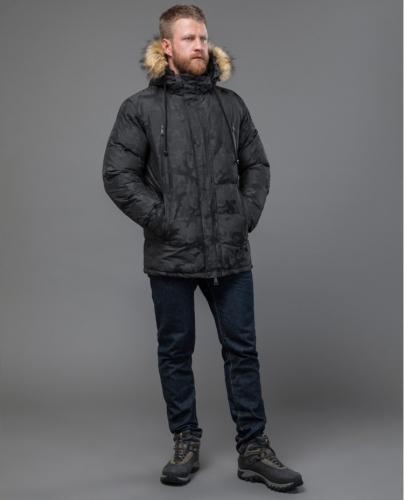 1900 3100Темно-серая мужская куртка дизайнерская Tiger Force модель 71368