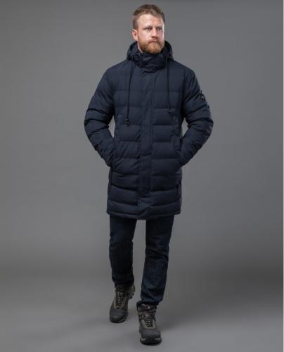 Синяя куртка Тайгер Форс с отстегивающимся капюшоном модель 58015