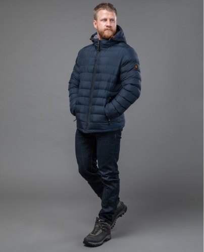 Куртка мужская синяя Тайгер Форс на молнии модель 77282