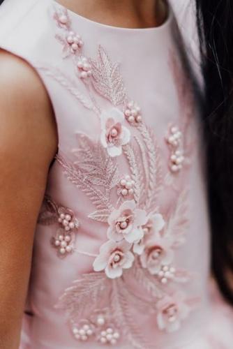 Платье для девочки Амелия А18-1 пудра