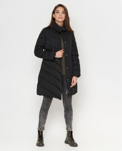1680 2180Черная зимняя женская куртка Tiger Force модель 9082