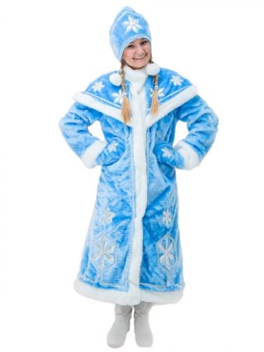 Карнавальный костюм Снегурочка (люкс)