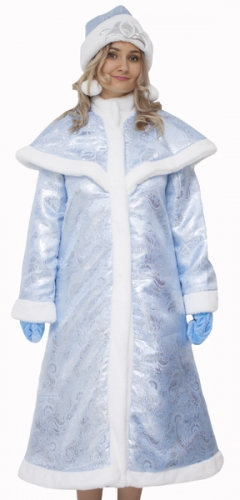 Карнавальный костюм Снегурочка Царская голубая