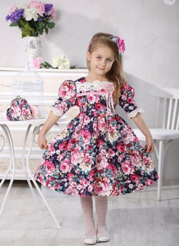 Платье для девочки МТ16-2 пионы