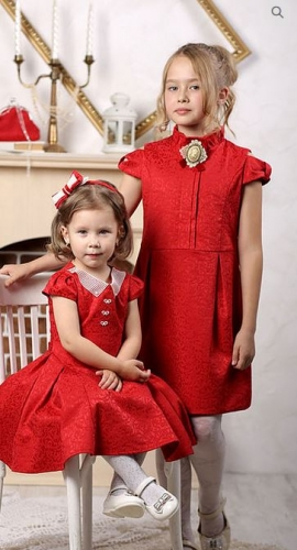 платье для девочки Грация М-392 красный