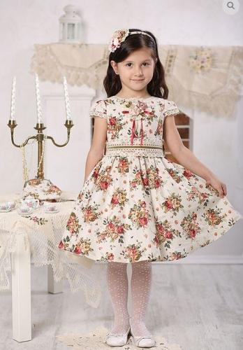 Платье МТ 16-4 лен букет