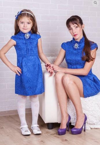 платье для девочки Грация М-392 синий