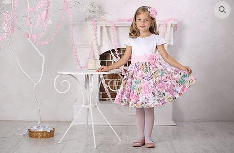 платье для девочки М-385 Элли цветы
