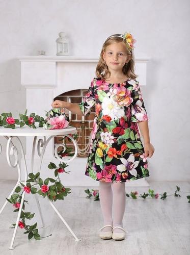 платье для девочки Юна А 16-3 бабочки