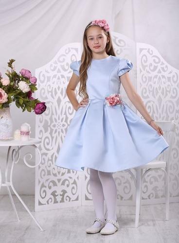 платье для девочки Вивьен А 16-1 голубой