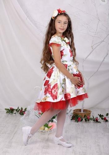 платье для девочки Барби М-431тюльпаны