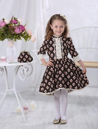 Платье МТ-422 вельвет розочки
