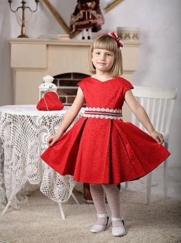 платье для девочки Софи М-387 красный