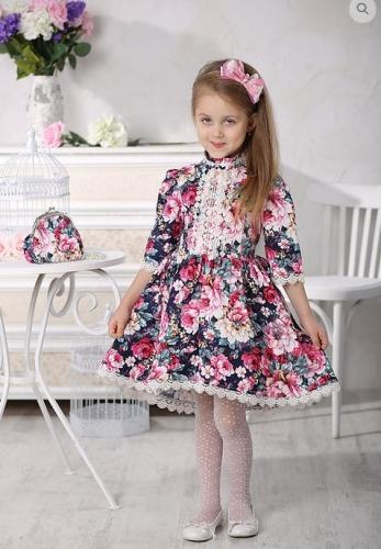 Платье для девочки МТ -422 пионы