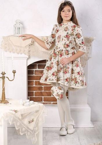 Платье МТ-422 лен букет