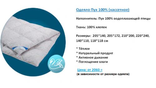 Витрина Одеяло Пух