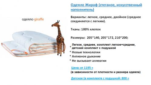 Витрина Одеяло Жираф