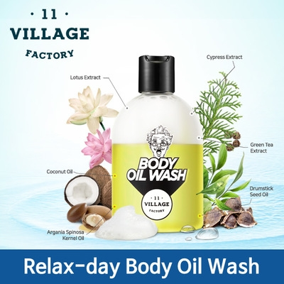550 Р Village 11 Factory,Relax-day Body Oil Wash  (300 ml )