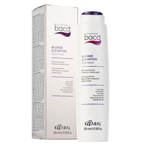 Baco color collection-blonde elevation shampoo. Шампунь дающий блеск волосам и тонирующий седые волосы.