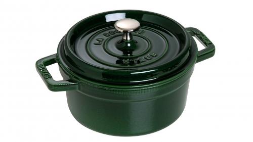 Кокот круглый, 24 см, 3,8 л, зеленый базилик