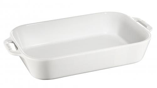 Форма прямоугольная керамическая, 27х20 см, белая