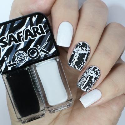 31933 Лак для ногтей nailLOOK TRENDS SAFARI, Ideal Striped, 2×3 мл