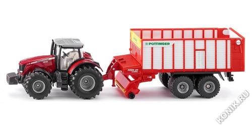 Трактор Massey Ferguson с кузовом Poettinger Jumbo