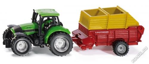 Трактор с сеялкой