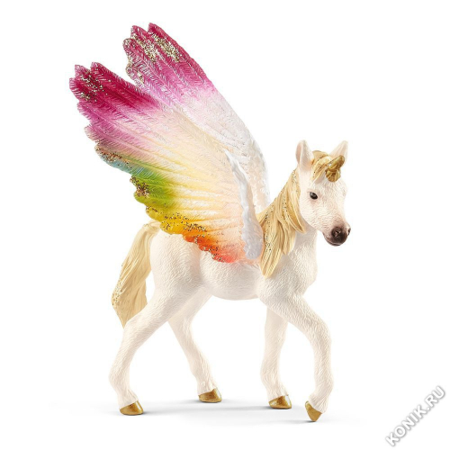 Детеныш крылатого радужного единорога Schleich