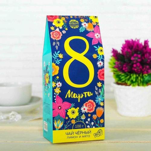 Чай чёрный 100 г с лимоном и мятой