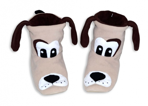Тапочки - Собачки бежевые