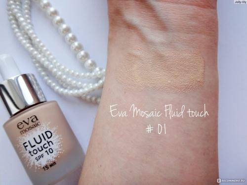 EVA Тональный крем-флюид Fluid Touch, 15 мл, 01, фарфор